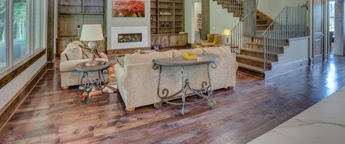 engineered wood flooring living space